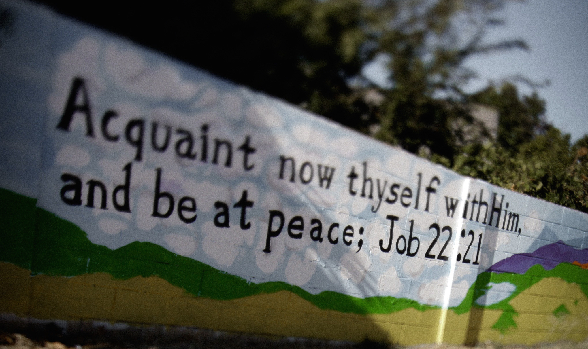 Job 22:11 says, Aquaint now thyself with Him; and be at peace. Photo ©2013 James Eslabon.