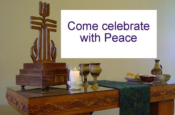 Peace Table photo invitation.