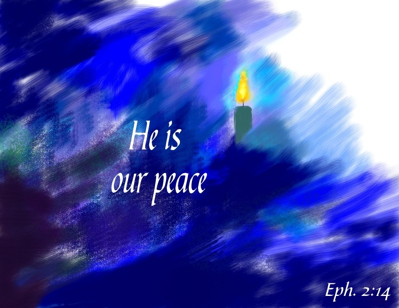 Peace Candle Ephesians 2:14.