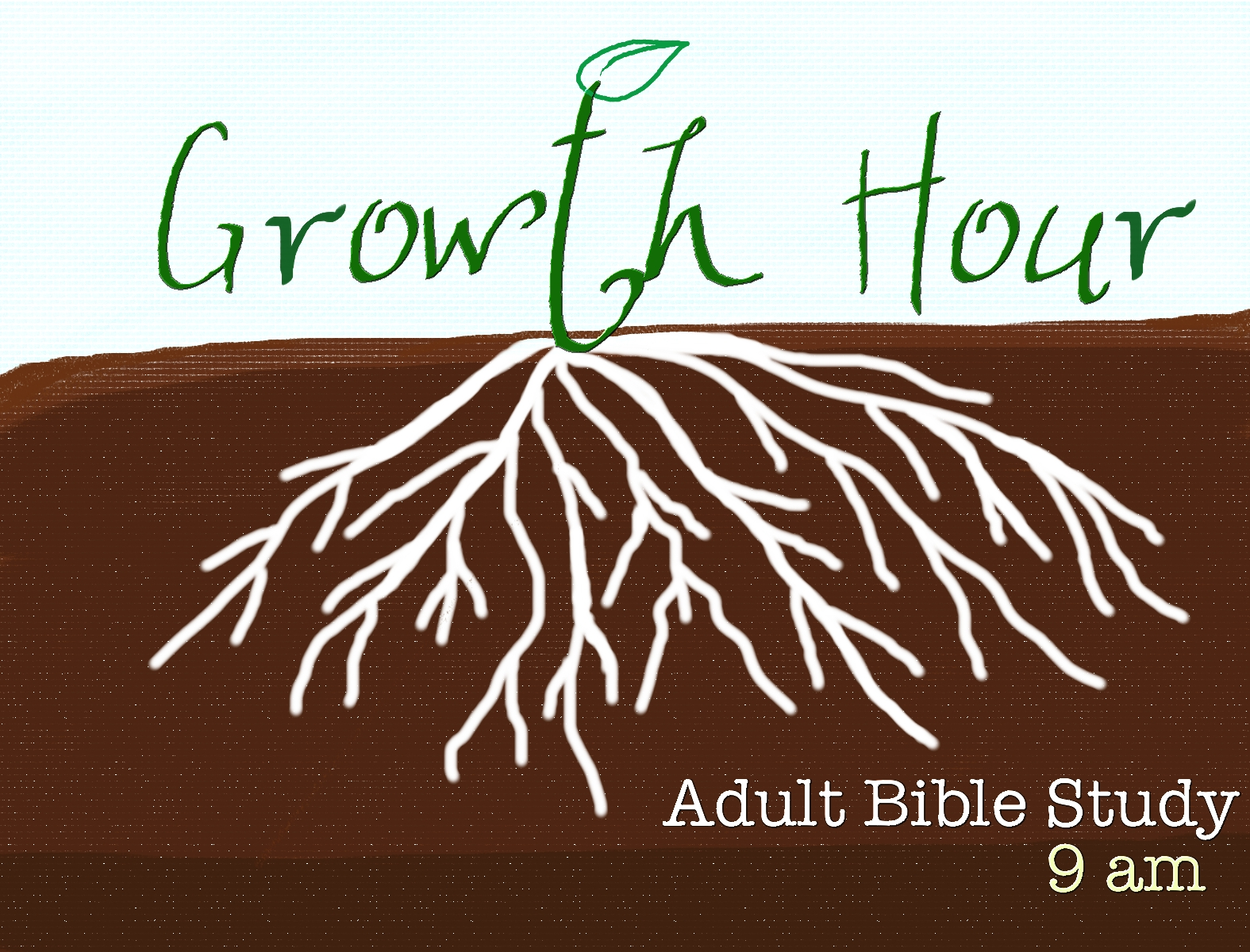 Growth Hour Adult Bible Study Image logo.